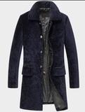 羊剪绒翻领大衣款