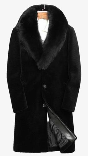 羊剪绒大衣 带狐狸毛领